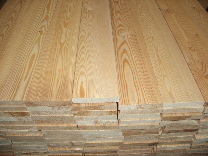 Terrassendielen sibirische Lärche 27x143mm glatt 4.00m lang, Qualität: Nachsortiert ( A/B Sortierung)