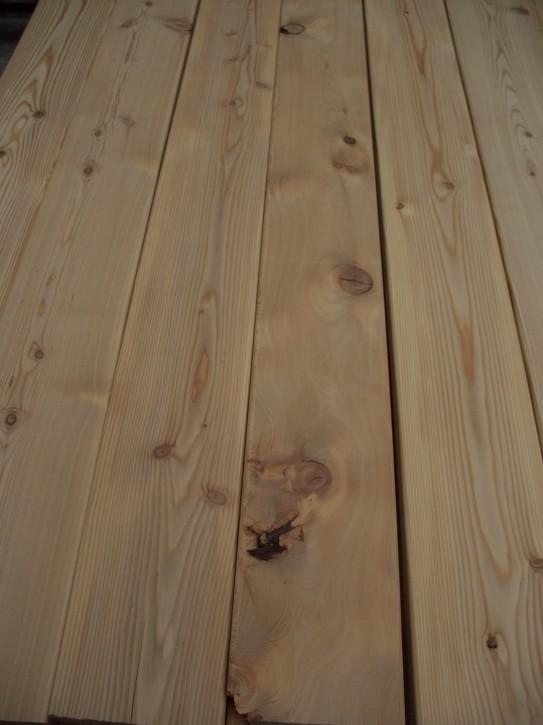 Terrassendielen sib. Lärche 28x140mm glatt 3.00m rustikal 70 Bretter
