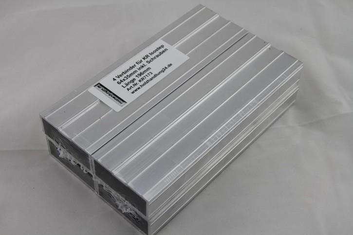 Verbinder für Isostep Aluminium Unterkonstruktion 64x35mm