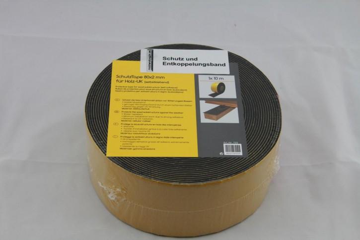 Abdeckband 10m Rolle 80mm breit für die Unterkonstruktion