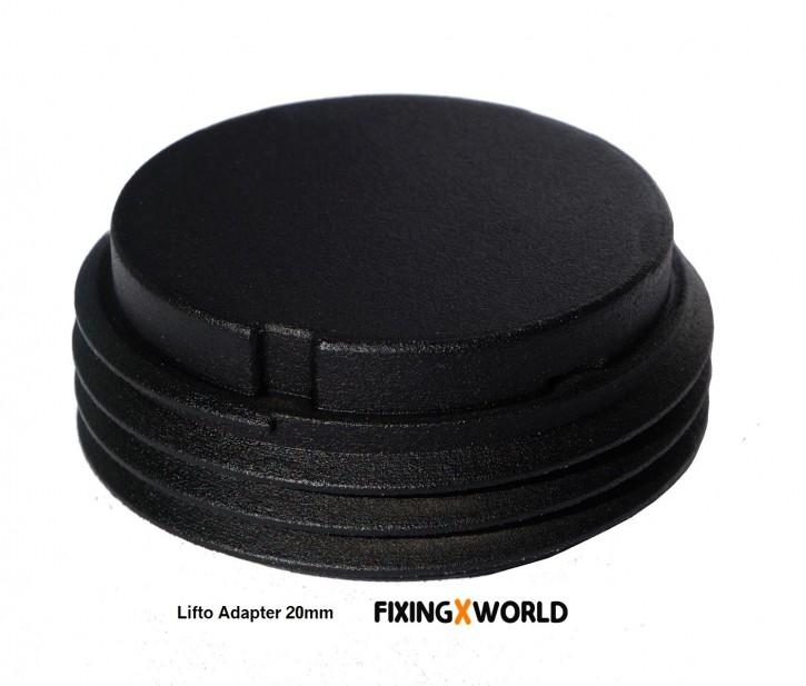 Adapter 20mm für LIFTO Terrassenlager  60 Stk./VPE