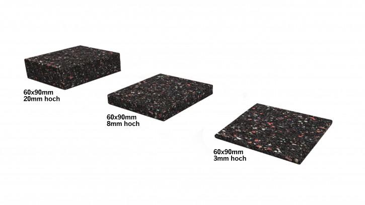 Gummigranulat Pad 60x90x8 mm 24 Stk/VPE Isopad
