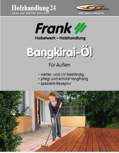 Holzhandlung24 Bangkirai-Öl 2.5 Liter