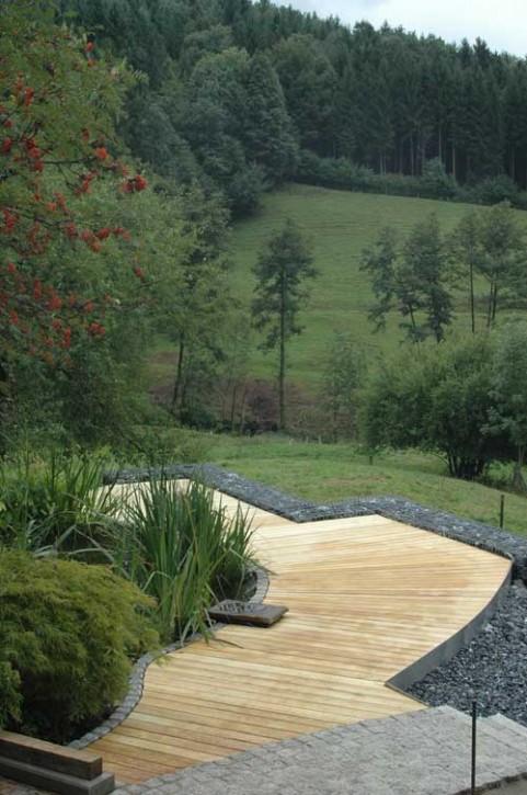 Terrassendielen Robinie 23 x 118 mm glatt gehobelt, Kanten gefast