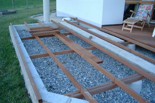 Holz Unterkonstruktion Terrasse