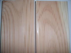 Terrassendiele Douglasie beidseitig gleich geriffelt , 25x140mm Holzmuster